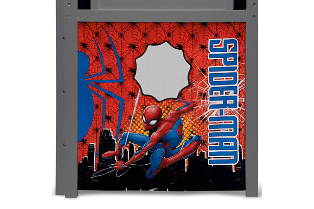 Delta Children Spider-man Loft Bed Tent - Curtain Set For Low Twin Loft Bed (bed Sold Separately), , large