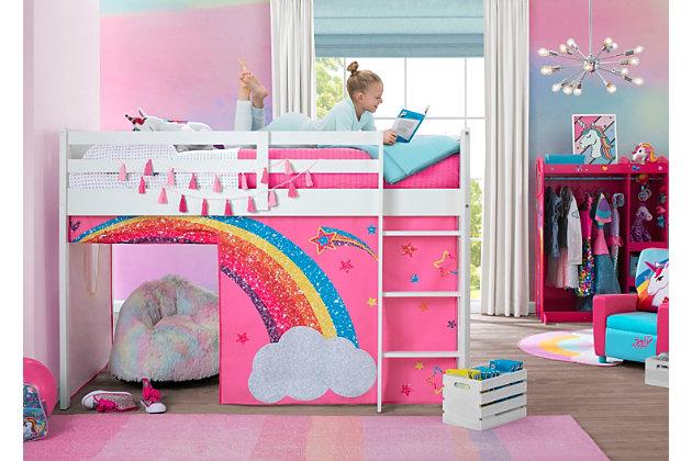 Delta Children Jojo Siwa Loft Bed Tent, Loft Bed Curtains Boy