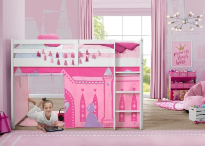 Picture of: Delta Children Disney Princess Loft Bed Tent Curtain Set For Low Twin Loft Bed Bed Sold Separately Ashley Furniture Homestore