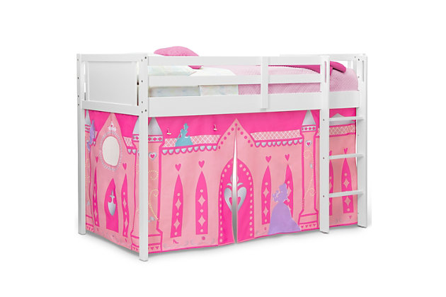 Delta Children Disney Princess Loft Bed Tent - Curtain Set For Low Twin Loft Bed (bed Sold Separately), , large