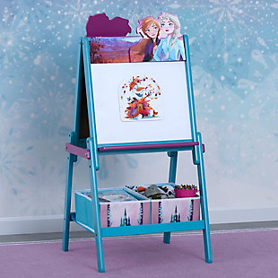 Delta Children Frozen II Wooden Double-Sided Activity Easel with Storage, , rollover