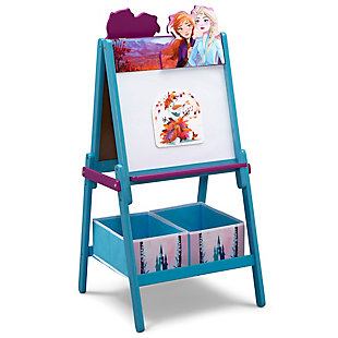 Delta Children Frozen II Wooden Double-Sided Activity Easel with Storage, , large