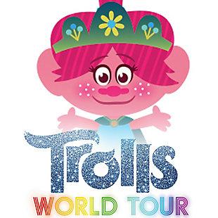 Delta Children Trolls World Tour Wooden Playhouse 4-shelf Bookcase For Kids, , large