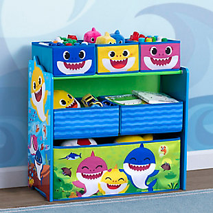 Delta Children Baby Shark Design & Store 6 Bin Toy Storage Organizer, , rollover