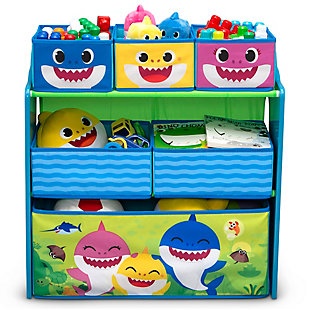 Delta Children Baby Shark Design & Store 6 Bin Toy Storage Organizer, , large