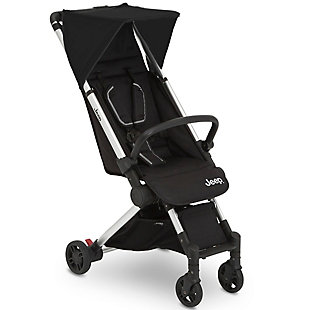 Delta Children Jeep Arrow Travel Stroller, Jet Black, Black, large