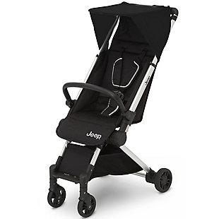 Delta Children Jeep Arrow Travel Stroller, Jet Black, Black, large