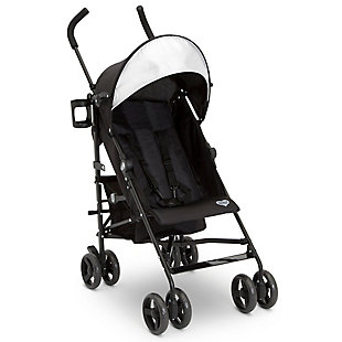 Delta Children Pilot Stroller, Black, , large