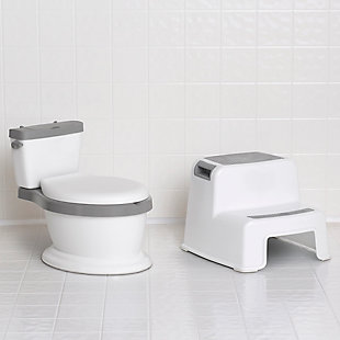Delta Children Kid Size Potty and Step Stool 2-Piece Set - Realistic Potty and Step Stool Ideal for Potty Training, , rollover