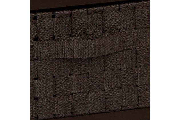 Honey-Can-Do 6 Drawer Woven Strap Chest, Black, large