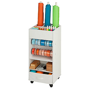 Honey-Can-Do Craft Storage Cart with Fabric Drawer, , rollover