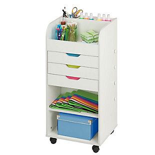 Honey-Can-Do 3 Drawer Craft Storage Cart, , rollover
