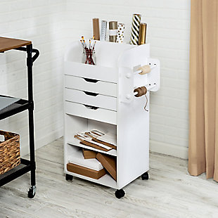 Honey-Can-Do Craft Storage Cart, , rollover
