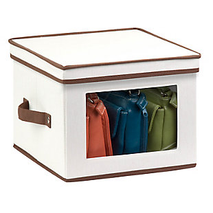 Honey-Can-Do 12x12 Window Storage Box, Natural, large