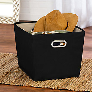 Honey-Can-Do Large Storage Bin, Black, rollover