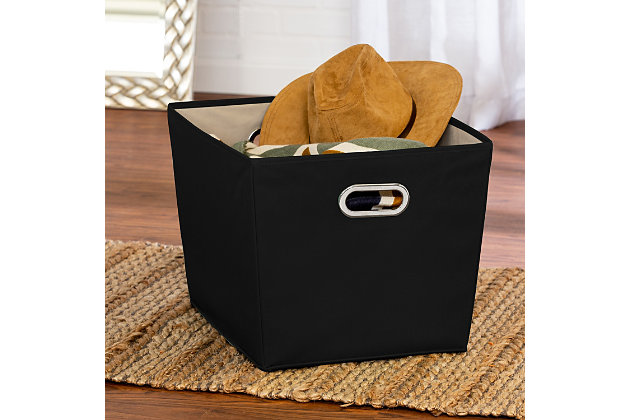 Honey-Can-Do Large Storage Bin, Black, large