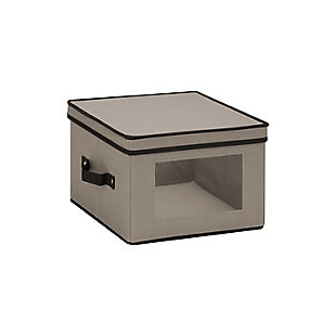 Honey-Can-Do 12x12 Window Storage Box, Gray, large