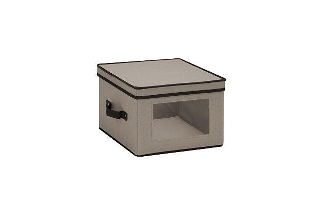 Honey-Can-Do 12x12 Window Storage Box, Gray, large