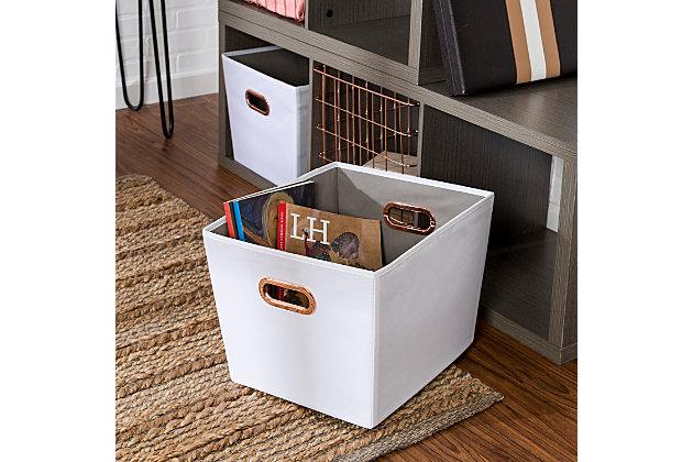 Honey-Can-Do 3 Cube Premium Laminate Storage Shelf, , large