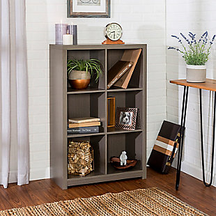 Honey-Can-Do 6 Cube Premium Laminate Storage Shelf, , rollover