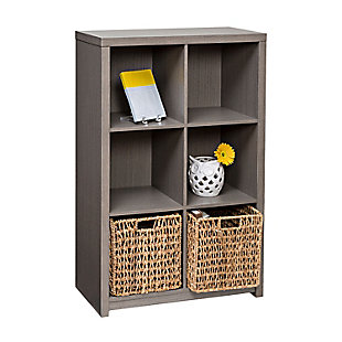 Honey-Can-Do 6 Cube Premium Laminate Storage Shelf, , large