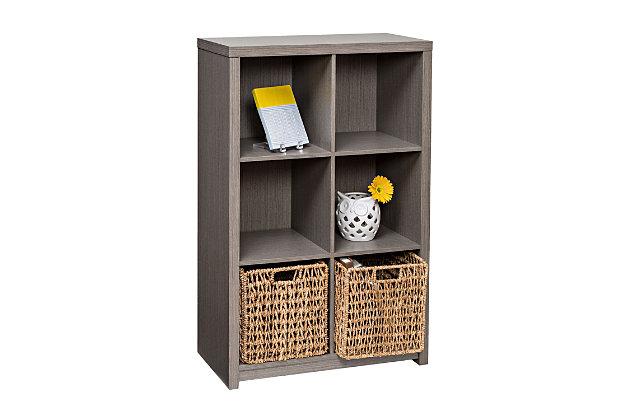 Honey-Can-Do 6 Cube Premium Laminate Storage Shelf, , large