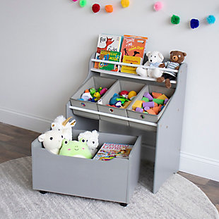 Humble Crew Camden 3-in-1 Toy Storage Organizer with Rollout Toy Chest, , rollover