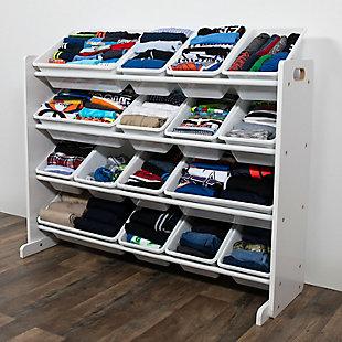 Humble Crew Cambridge Super Sized Toy Storage Organizer with 16 Storage Bins, , rollover