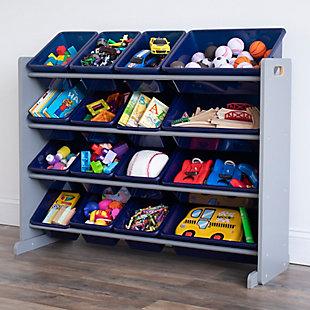 Humble Crew Newport Super Sized Toy Storage Organizer with 16 Storage Bins, , rollover