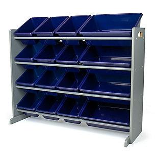 Humble Crew Newport Super Sized Toy Storage Organizer with 16 Storage Bins, , large