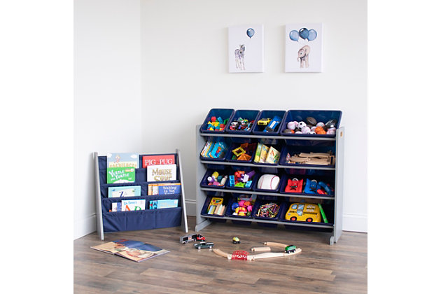 Humble Crew Newport Kids Bookshelf 4 Tier Book Organizer, , large