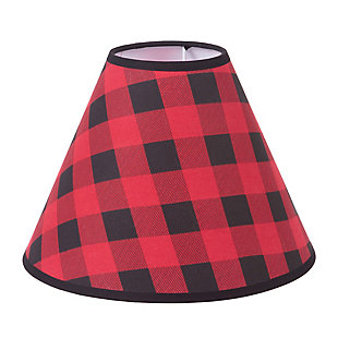 Trend Lab Black and Red Plaid Lamp Shade, , rollover