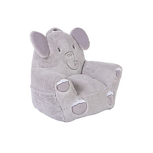Cuddo Buddies by Trend Lab Elephant Plush Character Chair, , rollover