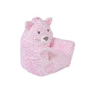 Cuddo Buddies by Trend Lab Pink Leopard Character Chair, , rollover