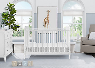 Delta Children Saint 4-in-1 Convertible Crib, Bianca White, rollover