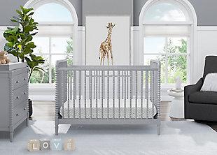 Delta Children Saint 4-in-1 Convertible Crib, Gray, large