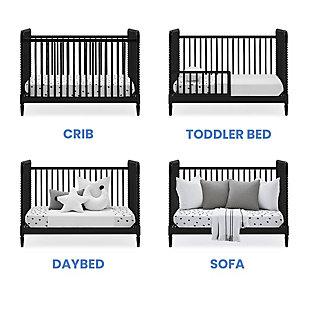 Delta Children Saint 4-in-1 Convertible Crib, Black, large
