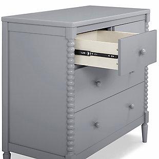 Delta Children Saint 4 Drawer Dresser with Changing Top, Gray, large