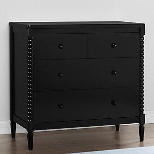 Delta Children Saint 4 Drawer Dresser With Changing Top, Black, large