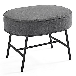 Delta Children Ella Ottoman, Stone Gray, large