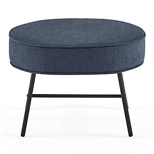 Delta Children Ella Ottoman, Slate Blue, large