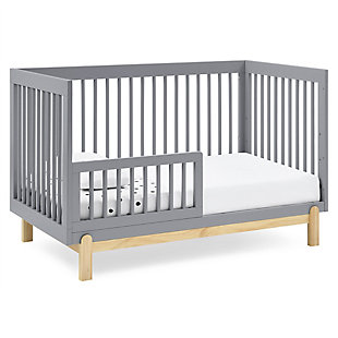 Delta Children Poppy 4-in-1 Convertible Crib, Gray /Natural, Gray, large