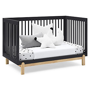 Delta Children Poppy 4-in-1 Convertible Crib, Midnight Gray/Natural, large