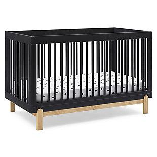 Delta Children Poppy 4-in-1 Convertible Crib, Midnight Gray/Natural, large