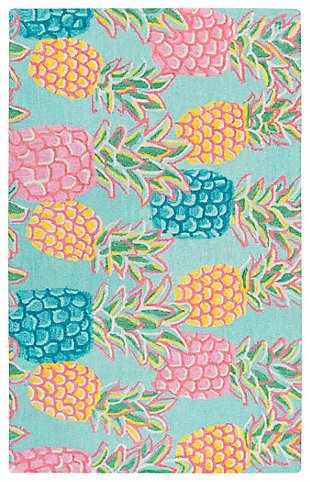 Simply Southern Pineapple 3 x 4 Rug, , large