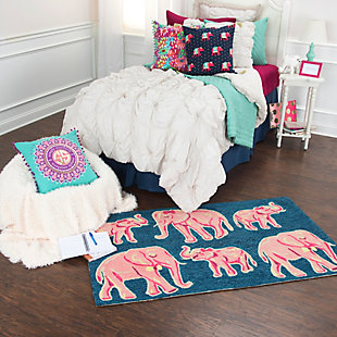 Simply Southern Elephant 3 x 4 Rug, , rollover