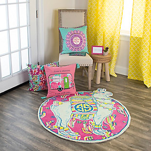Simply Southern Llama 3 x 3 Accent Rug, , rollover