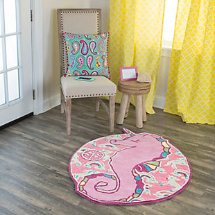 Simply Southern Seahorse 3 x 3 Accent Rug, , rollover