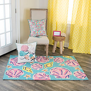 Simply Southern Sea Shell 3 x 4 Rug, , rollover