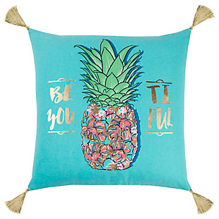 "Simply Southern 18""x18"" Polly Filled Pineapple Pillow, , large"